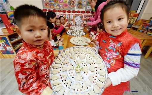 园迎新年画图片简笔画-幼儿园里迎新年
