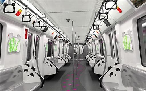 """成都地铁打造超萌""""熊猫主题""""列车"""