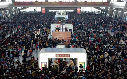 杭州:铁路春运迎高峰